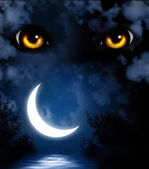 Horror in night — Stock Photo