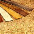 Stock Photo: Oak parquet and cork flooring texture