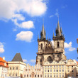 Old Town Square, Tyn Church — Stock Photo