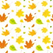 Seamless background with flying autumn leaves — Stock Photo
