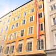 Famous House where Mozart was born, Salzburg — Stock Photo