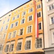 Famous House where Mozart was born, Salzburg — Stockfoto
