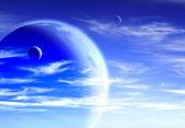 Himmel und erde — Stockfoto