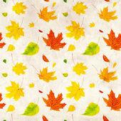 Fondo grunge inconsútil con hojas de otoño de vuelo — Foto de Stock
