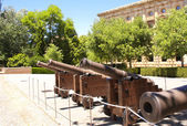 Ancient guns in Alhambra Castle, Spain — Stock Photo