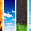 Set of banner with nature elements — Stock Photo #36873727
