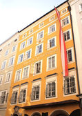 有名な家のモーツァルトが生まれたザルツブルク — ストック写真