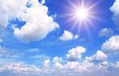 蓝蓝的天空白云 — 图库照片