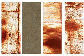 Set of banners with rusty metal texture — Stock Photo
