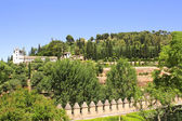 Garden in Alhambra Castle, Spain — Stock Photo