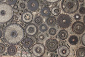 Pavement texture with gears in Montjuic, Barcelona — Stock Photo