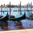 Gondolas in Venice, Italy — Stock Photo #39621703