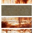 Set of banners with rusty metal texture — 图库照片