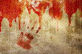 Blood on stucco wall — Stock Photo