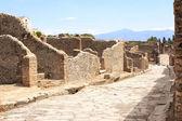 Ancient street in Pompeii, Italy — Stockfoto