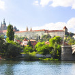 Vitava river and St. Vitus Cathedral in Prague — Stock Photo