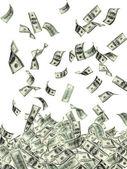 Rain from dollars — Foto Stock