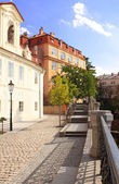 Embankment in Prague — Stock Photo