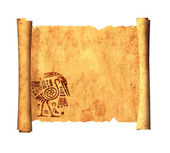 Scroll of old parchment — Stock Photo