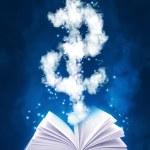 Magic book and dollar symbol — Stock Photo #45905447