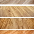 Set of banners with new oak parquet texture — Stock Photo #45905513