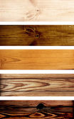 Wooden banners — Stock Photo