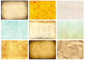 纸张的质地纹理的一整套 — 图库照片