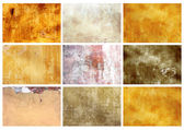 Set textures of stucco — Stock Photo