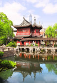 Pavilion in Yu Yuan Gardens, Shanghai, China — Stockfoto