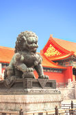 Ancient lion statue in Forbidden City, Beijing, China — Stock Photo