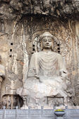 Longmen Grottoes with Buddha's statue — Foto de Stock