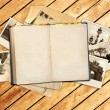 Old book and photos — Stock Photo #49464479