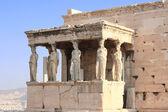 Porch of Caryatides in Erechtheum from Athenian Acropolis, Greec — Stock Photo