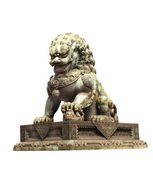 Lion statue in Forbidden City, Beijing, China — Stock Photo