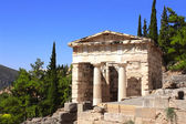 Athenian treasury, Delphi, Greece — Stock Photo