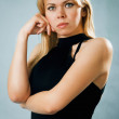 Portrait of serious nice blonde woman — Stock Photo #13672153