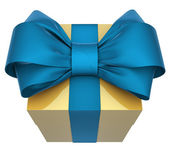 Christmas Present (box) with Bow — Stock Photo