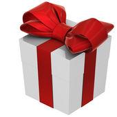 Christmas Present (box) with Bow — Stok fotoğraf