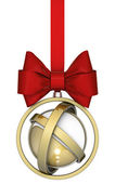 Abstract Christmas ball with bow — Stock Photo