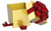 Christmas Present (box) with Bow — 图库照片