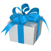 Christmas Present box with Bow — Stock Photo