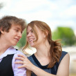 Happy young couple enjoying their time together — Stock Photo