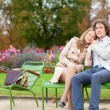 Romantic couple in a park, having a date — Stock Photo #12018661