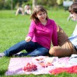 Young couple having a picnic — Stock Photo #12019366