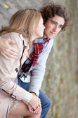 Young couple in love, having a date — Stock Photo