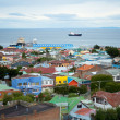 Beautiful view of Punta Arenas with the Strait of Magellan — Stock Photo