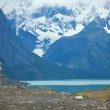 Stock Photo: Stacked stowns in Torres del Paine national park of Chile, South