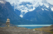 Stacked stowns in Torres del Paine national park of Chile, South — Stock Photo