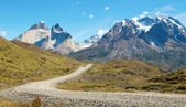 Road in Torres del Paine national park of Chile — Stock Photo