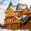 Full-scale reconstruction of wooden palace in Kolomenskoe, a for — Stock Photo